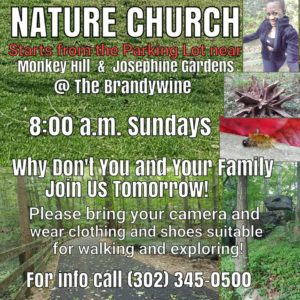 Nature Church @ Parking lot near Monkey Hill and Joesphine Gardens | Wilmington | Delaware | United States