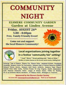 Elsmere Garden Community Night @ Elsmere Community Garden At Linden Avenue