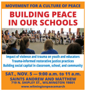 Movement for a Culture of Peace Forum: Building Peace in Our Schools @ Episcopal Church of Saints Andrew and Matthew