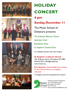 Holiday Concert, St. Stephen's, Del. Music School @ St. Stephen's Lutheran Church