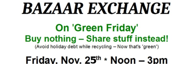 6th Annual WIT Bazaar Exchange on Green Friday!
