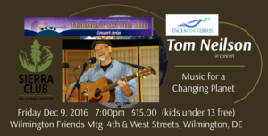 Tom Neilson in Concert, Music for Social Change @ Wilmington Friends Meeting House